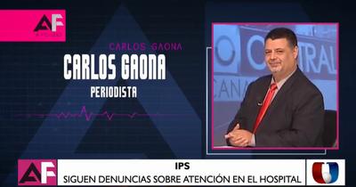 """Carlos Gaona: """"En IPS me mandaron a casa, esa misma noche me interné por Neumonía"""""""