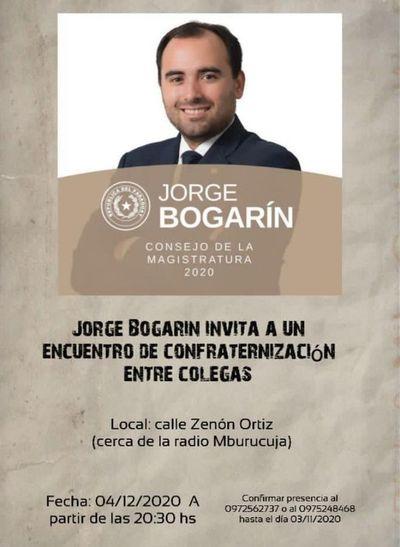 Abogado Jorge Bogarín visitará la terraza del país