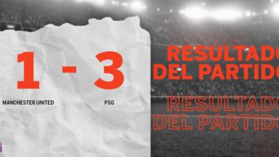 Con doblete de Neymar Jr., PSG derrotó a Manchester United