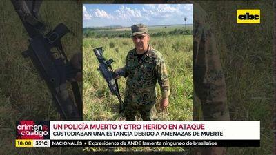 Un policía muerto y otro herido en ataque en estancia de Capitán Bado