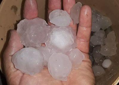 Reporte de tormenta en el interior del país
