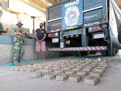 Incauta cientos de kilos de cocaína oculta entre cemento proveniente de Bolivia