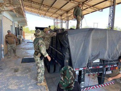Senad incauta carga de cocaína entre bolsas de cemento de origen boliviano