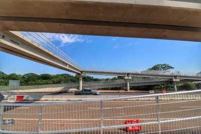 Ruta PY02: habilitan pasarela peatonal en la ciudad de Nueva Londres, Caaguazú