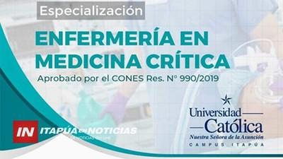 HABILITAN ESPECIALIZACIÓN EN MEDICINA CRÍTICA DIRIGIDA A PROFESIONALES ENFERMEROS