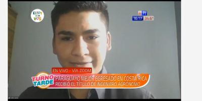 Joven de Azote'y es mejor egresado de universidad de Costa Rica