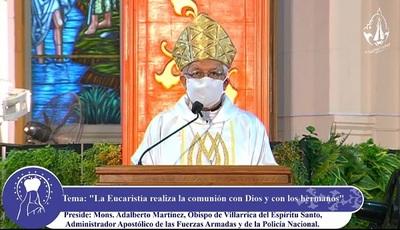 Monseñor dispara contra el tráfico de drogas y asegura que es una pandemia