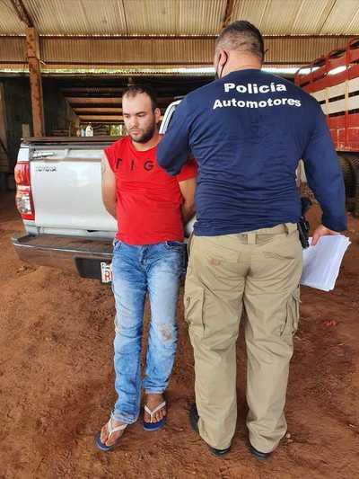 Detienen a un sujeto e incautan varias evidencias relacionadas a robo de camiones