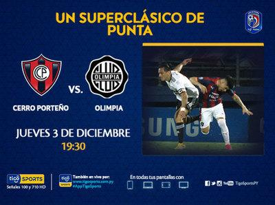 Cerro Porteño y Olimpia se juegan el honor y la punta del Clausura