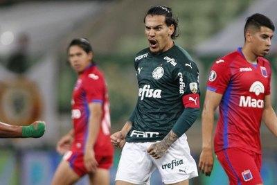 El récord que alcanzó Gustavo Gómez con Palmeiras