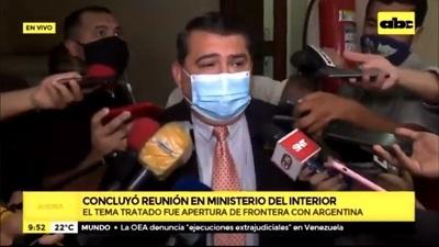 Paraguay busca diálogo para apertura de frontera con Argentina
