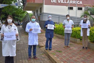 Manifestación de médicos de Guairá en su día