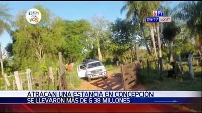 Desconocidos atacan estancia en Concepción y se llevan G. 38 millones