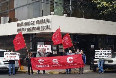 Sindicalistas insisten con movilizaciones en el pago mínimo del aguinaldo para trabajadores