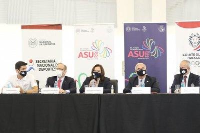 Autoridades, satisfechas con avances para los Suramericanos Asunción 2022