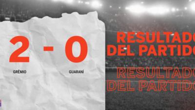 Grêmio le ganó con claridad a Guaraní por 2 a 0