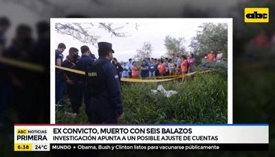 Ex convicto fue hallado muerto en Puerto Botánico