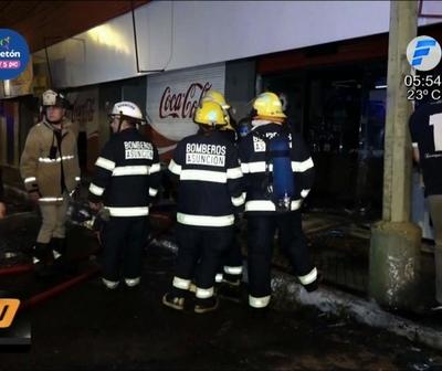 Incendio en supermercado de Asunción