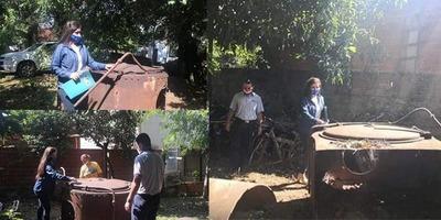 RESCATAN CALDERA Y ACCESORIOS DE LA ESTACIÓN FERROVIARIA SALITRE CUÉ.