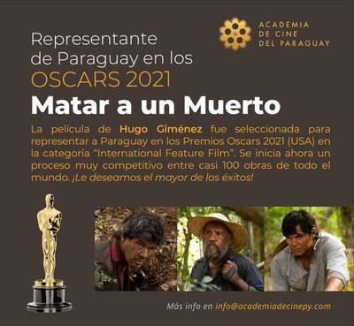 """""""Matar a un muerto"""" fue seleccionada para representar a Paraguay en los Oscars"""