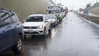 Vuelven a habilitar el superviaducto tras haberse inundado esta mañana