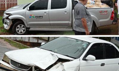 Camioneta de Itaipú protagoniza accidente
