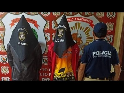 Dos detenidos en investigación por doble homicidio en Minga Guazú