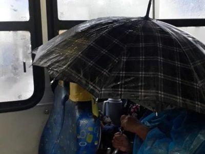 """Pasajera: """"Llovía más adentro que fuera del micro"""""""