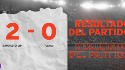 Con dos goles, Manchester City se impuso a Fulham en el estadio Etihad Stadium