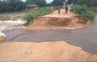 Laguna Cerro: contaminación se expande tras desmoronamiento de camino