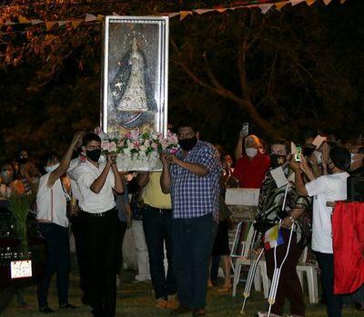 La Virgen Peregrina de Caacupé visitó Mariano Roque Alonso