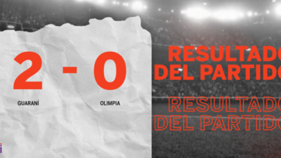 En su casa, Guaraní venció a Olimpia por 2 a 0