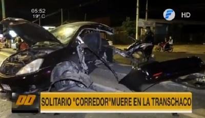 Muere joven conductor tras impactar contra una columna