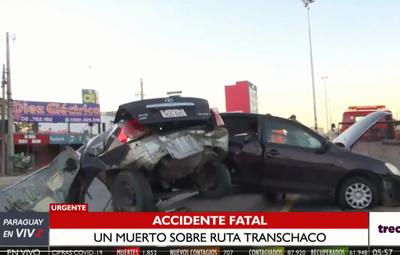 Fatal accidente de tránsito sobre la ruta Transchaco