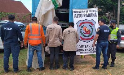 Retienen camión con PLATINES de CAÑAMO, por confundirlo con CANNABIS
