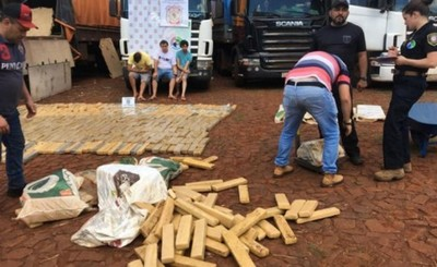 Imputan a los tres detenidos con droga ocultas en camiones