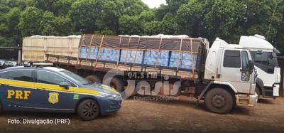 Carga de cerveza de contrabando desde Paraguay es incautada por la Policía Rodoviaria Federal