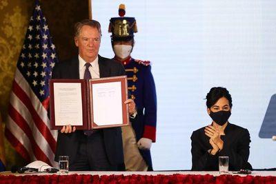 Ecuador y EE.UU. firman un Acuerdo Comercial de primera fase