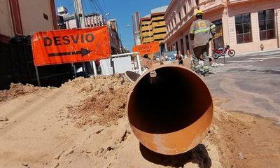 Prosiguen los trabajos de alcantarillado sanitario en Asunción