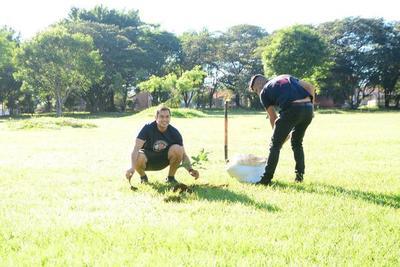 Comuna reforesta espacios públicos con plantas nativas