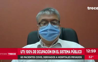 Pacientes con Covid, derivados a hospitales privados