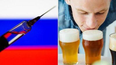 Quienes reciban la vacuna rusa contra el Covid no podrán beber alcohol por 42 días