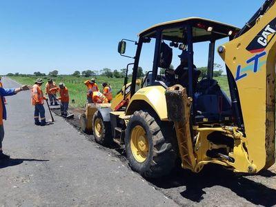 Preparan más frente de obras en la Transchaco y avanzan tramos que se adjudicaron el año pasado