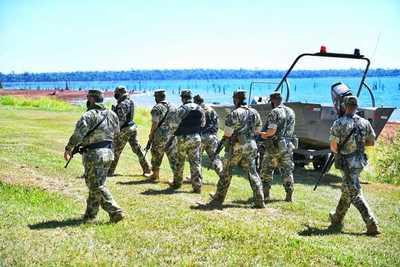 Fuerzas militares refuerzan los trabajos de vigilancia en áreas protegidas de Itaipú