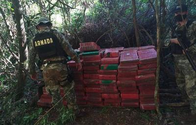 En Alto Paraná hallaron 2,5 toneladas de marihuana
