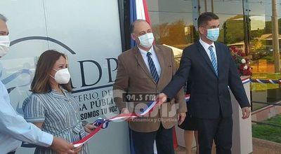 Ministerio de la Defensa Pública inaugura nueva sede en Pedro Juan