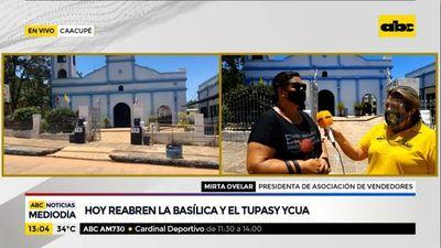 Hoy reabren la Basílica de Caacupé y Tupãsy Ykua
