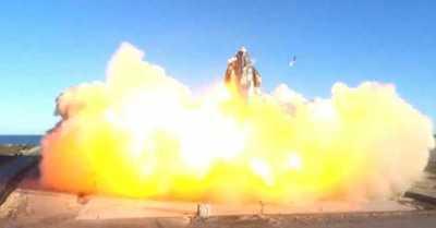 El cohete 'Starship'de SpaceX explota al momento de aterrizar