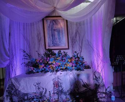 Tradicional serenata a la virgen de Guadalupe en Fernando de la Mora