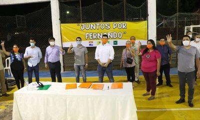 Partidos opositores sellan alianza electoral en Fernando de la Mora